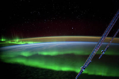 Satellite Views Photograph - Satellite View Of Aurora Borealis by Panoramic Images