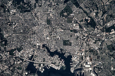 Maryland Photograph - Satellite View Of Baltimore, Maryland by Panoramic Images