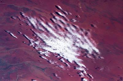 Satellite View Of Clouds Over Desert Art Print