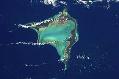 Bight Colors Photograph - Satellite View Of Crooked Island by Panoramic Images