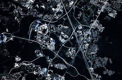 Walt Disney World Photograph - Satellite View Of Disneyworld, Orlando by Panoramic Images