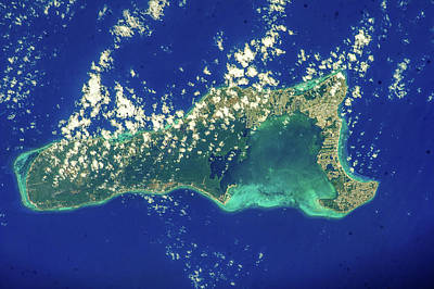 Photograph - Satellite View Of Grand Cayman by Panoramic Images