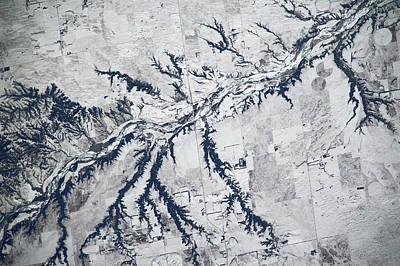 Satellite View Of Neobrara River Art Print