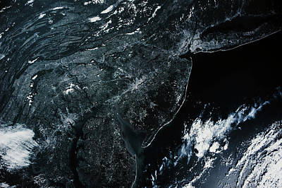 Northeastern Photograph - Satellite View Of New Jersey, Usa by Panoramic Images