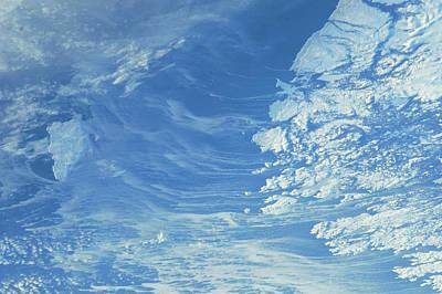 Satellite View Of Newfoundland Art Print