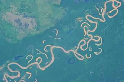 Amazon Rainforest Photograph - Satellite View Of Plains In Beni by Panoramic Images