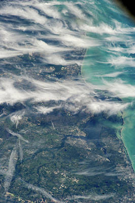 Atlantic Ocean Beach Photograph - Satellite View Of Ponte Vedra Beach by Panoramic Images