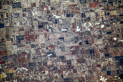 Satellite View Of Redfield, Spink Art Print