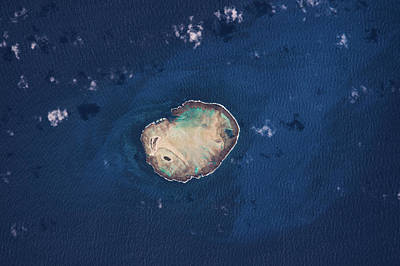Atoll Photograph - Satellite View Of Rocas Atoll In South by Panoramic Images