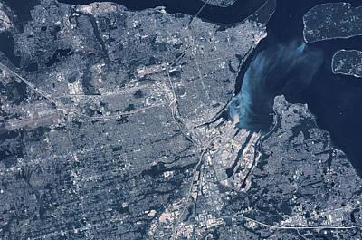 Satellite View Of Tacoma, Pierce Art Print