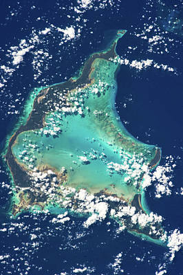 Turks And Caicos Islands Photograph - Satellite View Of Turks And Caicos by Panoramic Images