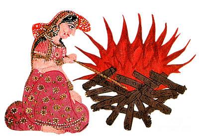 Hindu Goddess Photograph - Sati, Hindu Goddess by Photo Researchers