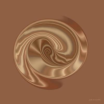 Digital Art - Satin Spiral by Judi Suni Hall