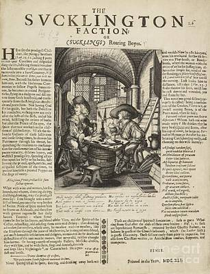 Satire On Gluttony, 17th Century Art Print by British Library