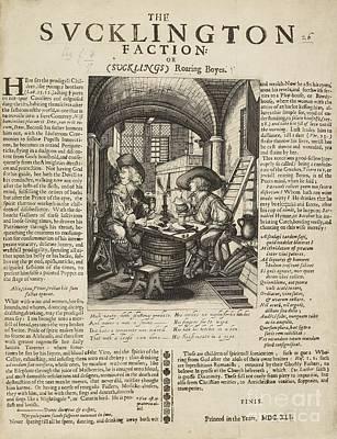 Satire On Gluttony, 17th Century Art Print