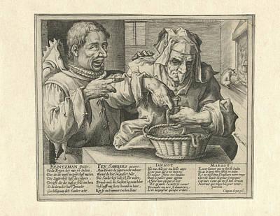 Caricature Drawing - Satire On Hygiene, Crispijn Van De Passe by Crispijn Van De Passe (i)