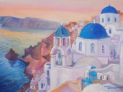 Santorini Greece Art Print