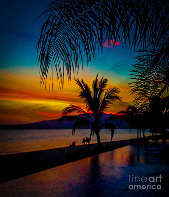 Saturated Mexican Sunset Art Print by Charlene Gauld
