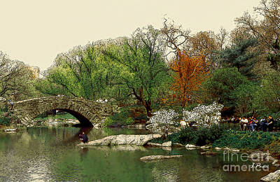 Saturday In Central Park Art Print by Linda  Parker