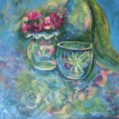 Two Vases Painting - Saturday Morning by Jan Statman