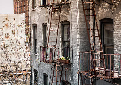 Fireescape Photograph - Saturday Morning  by Leslie Nagao