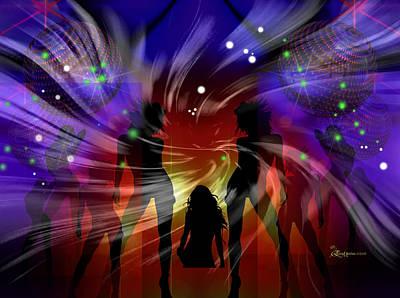 Dance Floor Digital Art - Saturday Night Fever --featured In 'comfortable Art' Group by EricaMaxine  Price