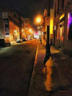 Fire Hydrant Painting - Saturday Night On State Street by RC deWinter