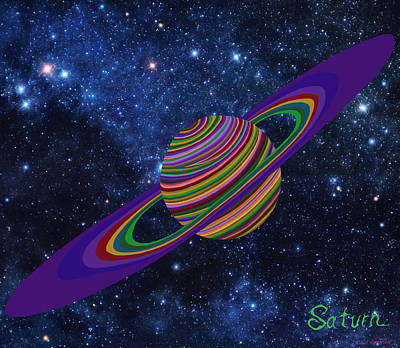 Painting - Saturn 13 by Robert SORENSEN