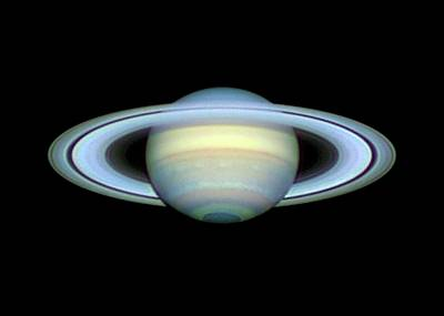 Saturn And Its Rings Art Print by Damian Peach