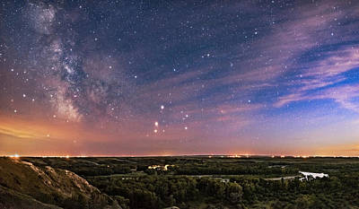 Blackfoot River Photograph - Saturn, Mars And The Milky Way by Alan Dyer
