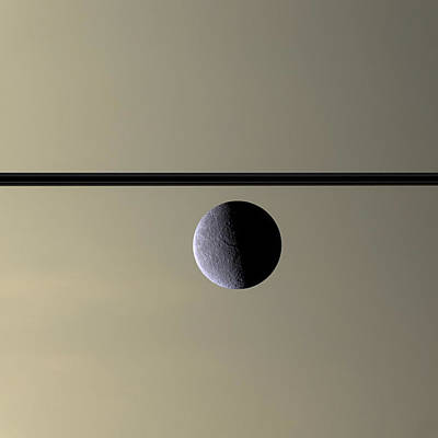 Abstract Moon Photograph - Saturn Rhea Contemporary Abstract by Adam Romanowicz