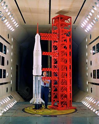 Saturn Rocket Model Testing Art Print