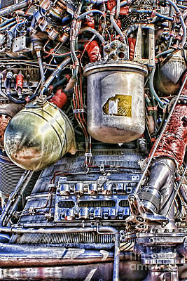 Photograph - Saturn V J-2 Rocket Engine by Olga Hamilton