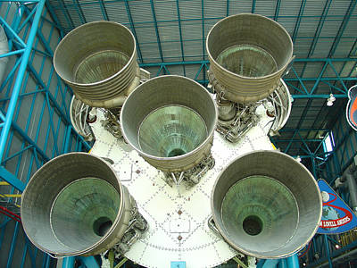 Photograph - Saturn V Rockets by David Nicholls