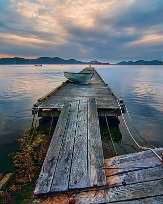 Wooden Platform Photograph - Saturna Island Dock by James Wheeler