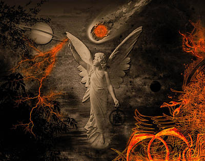 Digital Art - Saturn's Angel by Michael Damiani