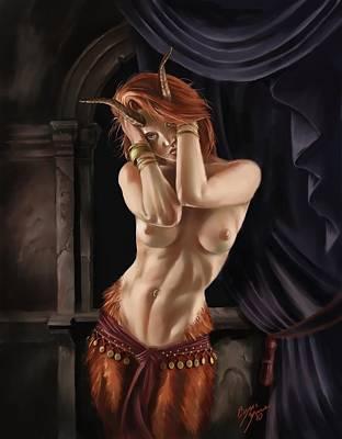Fantasy Nudes Digital Art - Satyr by Bryan Syme