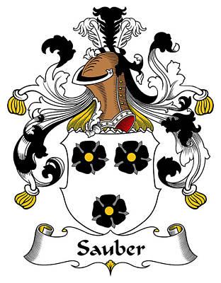 Sauber Coat Of Arms German Art Print by Heraldry
