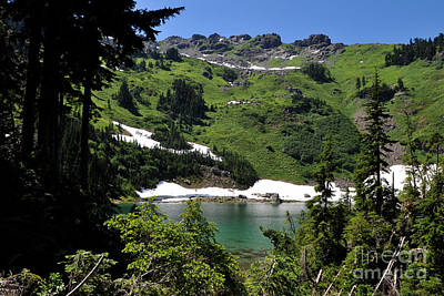 Photograph - Sauk Mountain Lake by Rebecca Parker