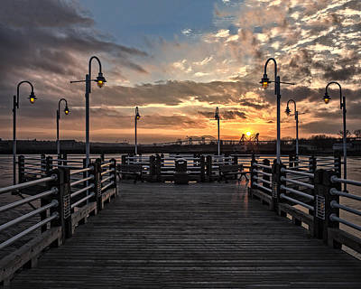 Sault Ste Marie Photograph - Sault Ste. Marie Boardwalk Sunset by Melissa  Connors