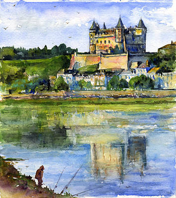 Painting - Saumur Chateau France by John D Benson
