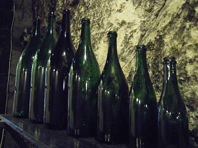Photograph - Saumur Winery Bottles by Ellen Meakin