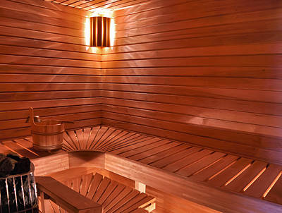 Relaxation Photograph - Sauna by Snowflake Obsidian