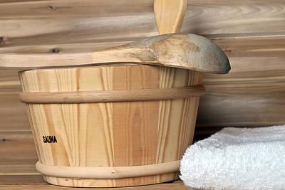 Photograph - Sauna Bucket by Marek Poplawski