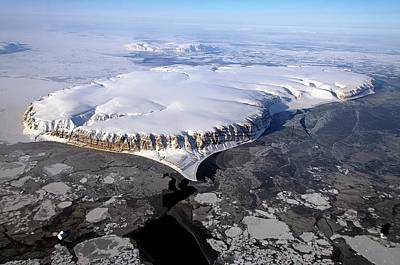 Snow-covered Landscape Photograph - Saunders Island by Nasa/michael Studinger