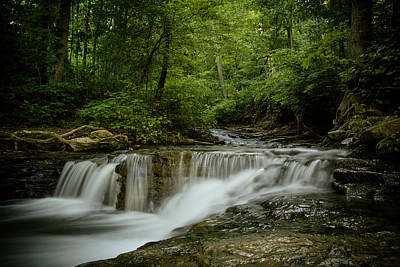 Kentucky Photograph - Saunders Spring Falls by Shane Holsclaw