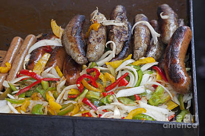 Photograph - Sausage And Vegetables by Jim West