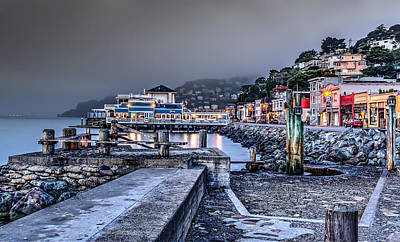 Sausalito Waterfront 3 Art Print by Phil Clark