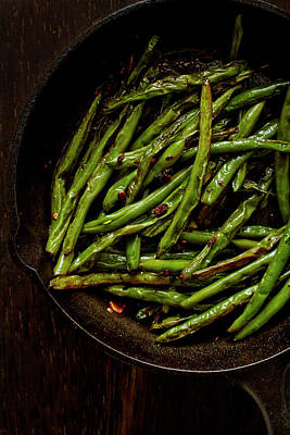 Sauteed String Beans Art Print by Joseph Clark