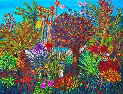 Savage Garden Art Print by Peri Craig
